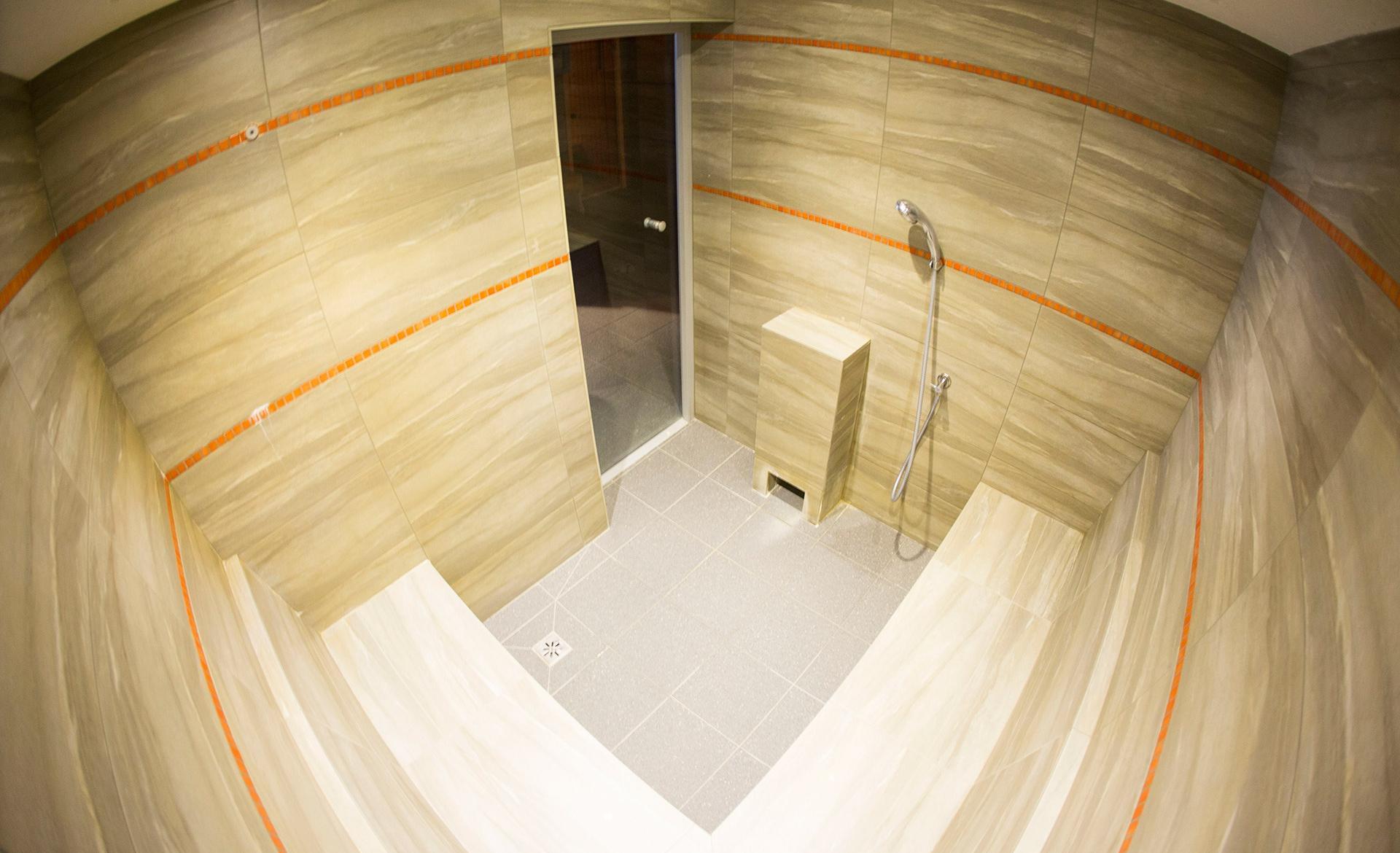 sauna w środku